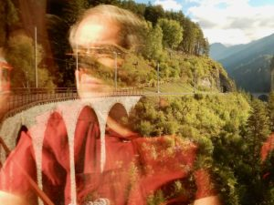 Kurt auf der Fahrt zum Landwasserviadukt