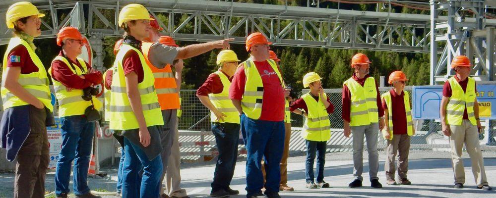 Baustellenbesichtigung in Preda